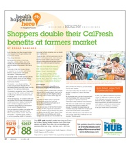 Shoppers double their CalFresh benefits at farmers market